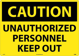 Large Format Caution Unauthorized Personnel Sign