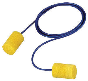 3M Single Use Classic Cylinder Shape PVC Foam Corded Earplugs With Vinyl Cord