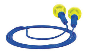 3M Multiple Use Push-Ins Push-to-Fit Polyurethane Foam Corded Earplugs With Vinyl Cord