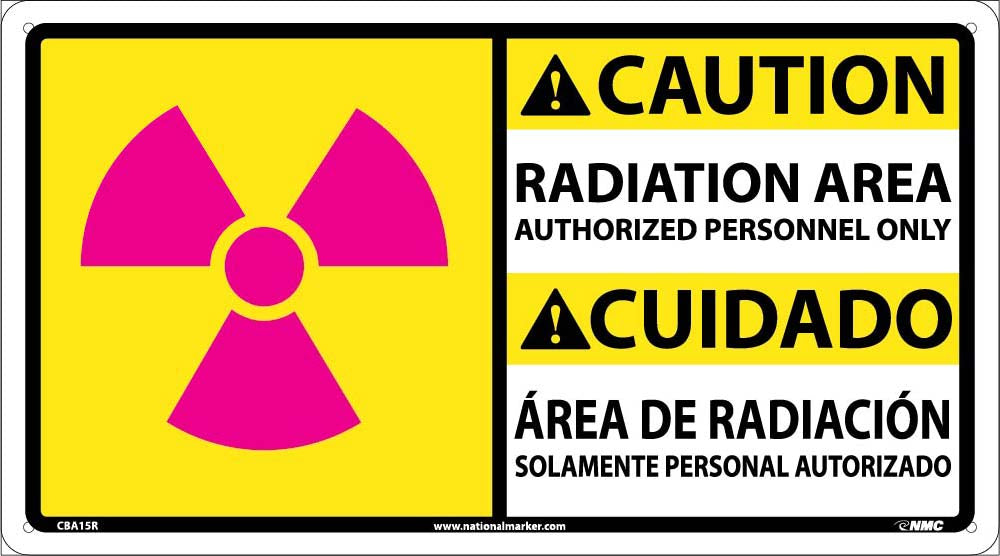 Radiation Area Authorized Personnel Sign