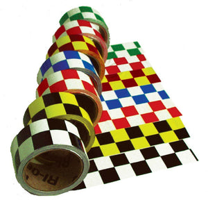 Checkerboard Safety Tape Black/White - Roll
