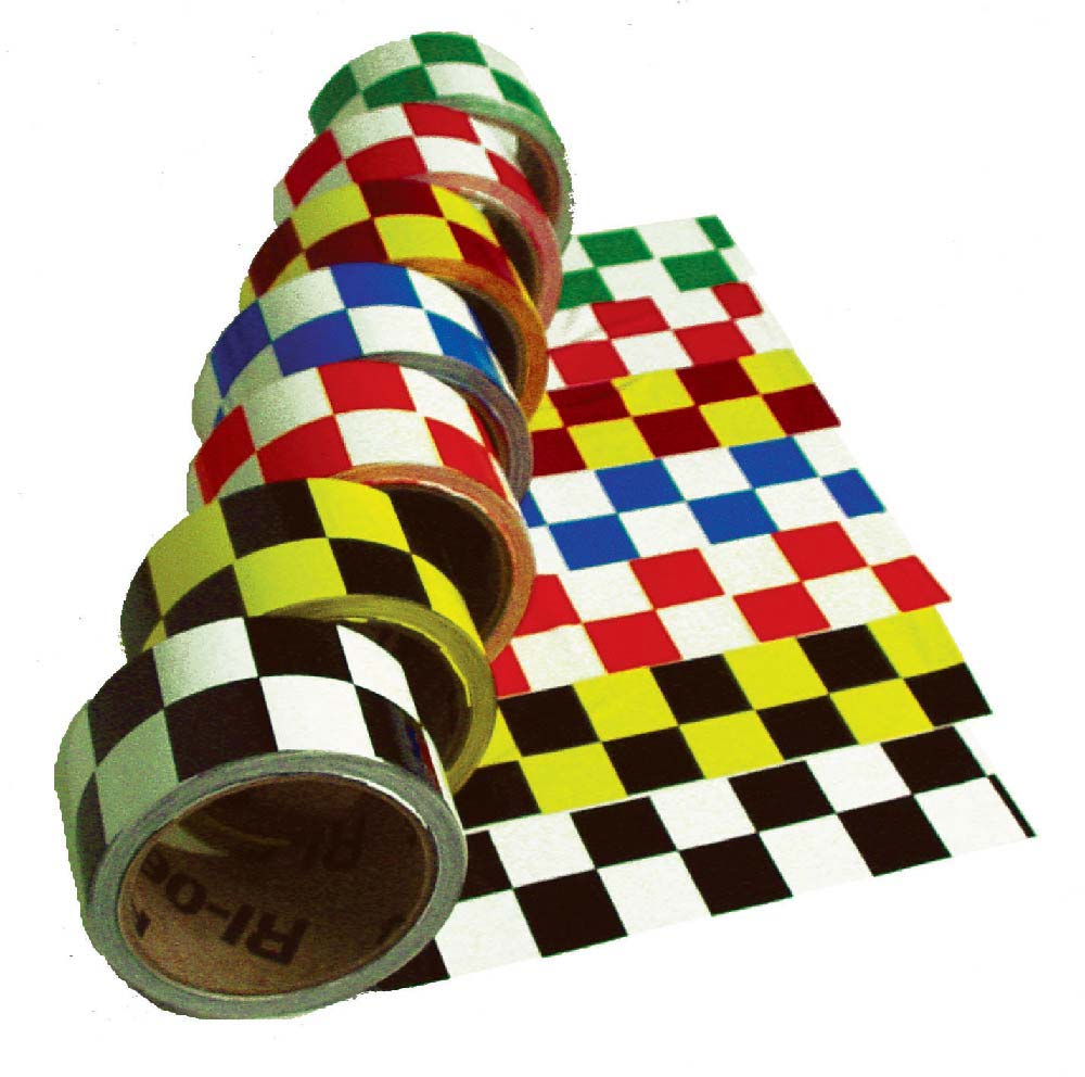 Checkerboard Safety Tape Green/White - Roll