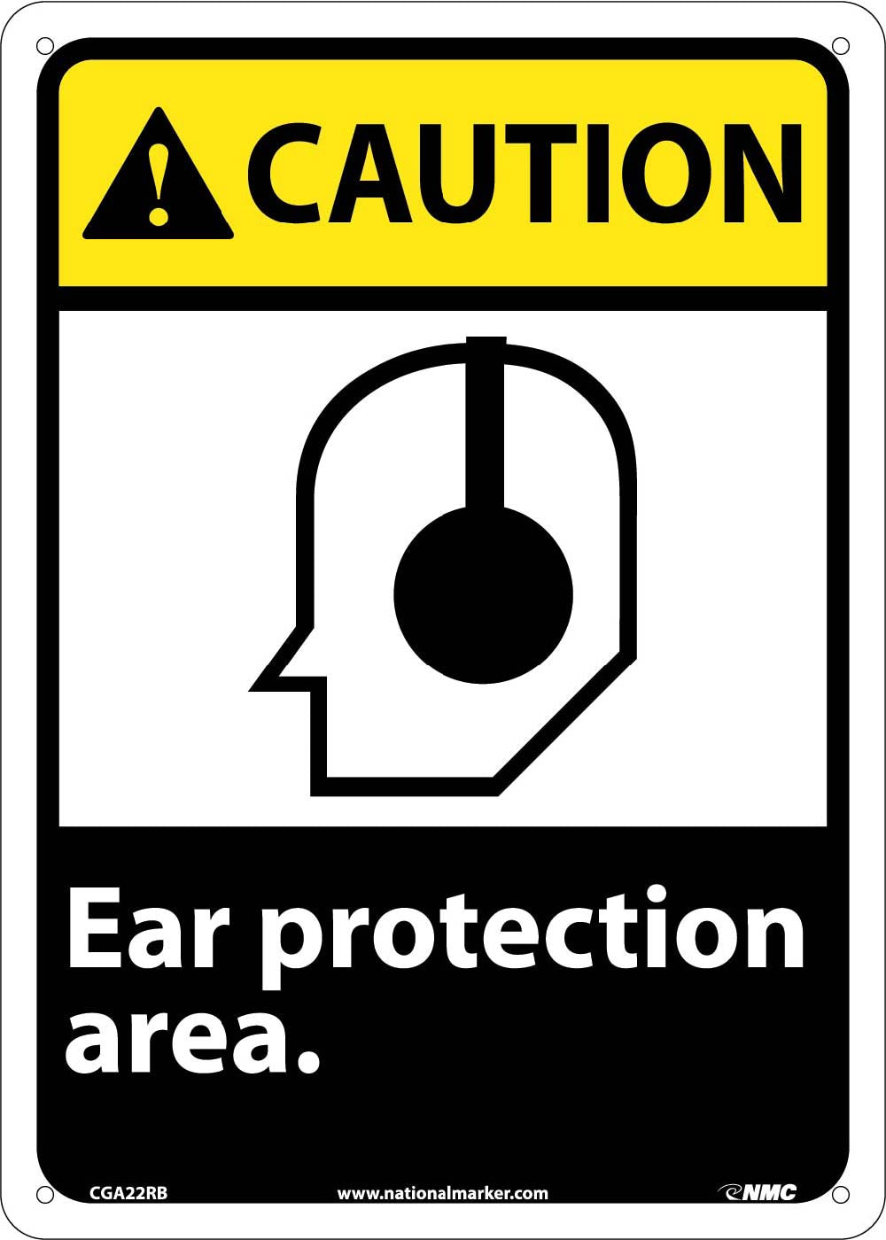 Caution Ear Protection Area Sign