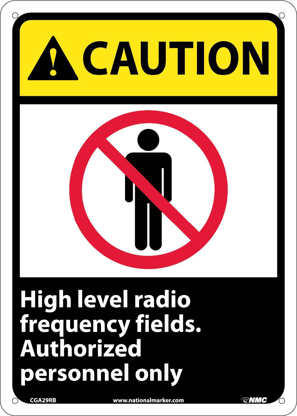 Caution High Level Radio Frequency Fields Sign