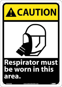 Caution Respirator Must Be Worn In This Area Sign