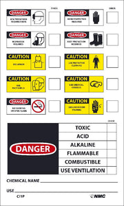 Chemical Id Label - 10 Pack