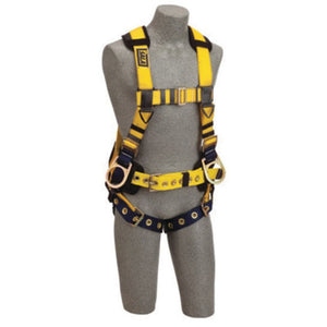 3M DBI-SALA ExoFit No-Tangle Full Body/Vest/Iron Worker Style Harness With Back And Side D-Ring, Tongue Leg Strap Buckle, Belt With Adjustable Support Strap And Pad, Shoulder Pad And Reinforced Seat Strap