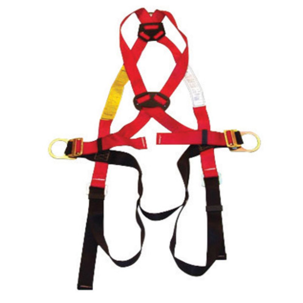 MSA X-Small Workman Construction Style Harness With Qwik-Fit Chest Strap Buckle, Tongue Leg Strap Buckle, Back And Hip D-Ring, Shoulder Pad, Integral Back Pad And Tool
