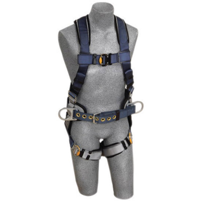 3M DBI-SALA ExoFit Construction/Full Body/Vest Style Harness With Back And Side D-Ring, Belt With Sewn-In Pad, Quick Connect Chest And Leg Strap Buckle And Built-In Comfort Padding