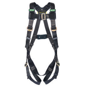 MSA X-Small Workman Arc Flash Vest Style Harness With Back Steel D-Ring And Tongue Buckle Leg Straps