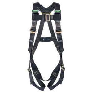 MSA Super X-Large Workman Arc Flash Vest Style Harness With Back Web Loop And Tongue Buckle Leg Straps