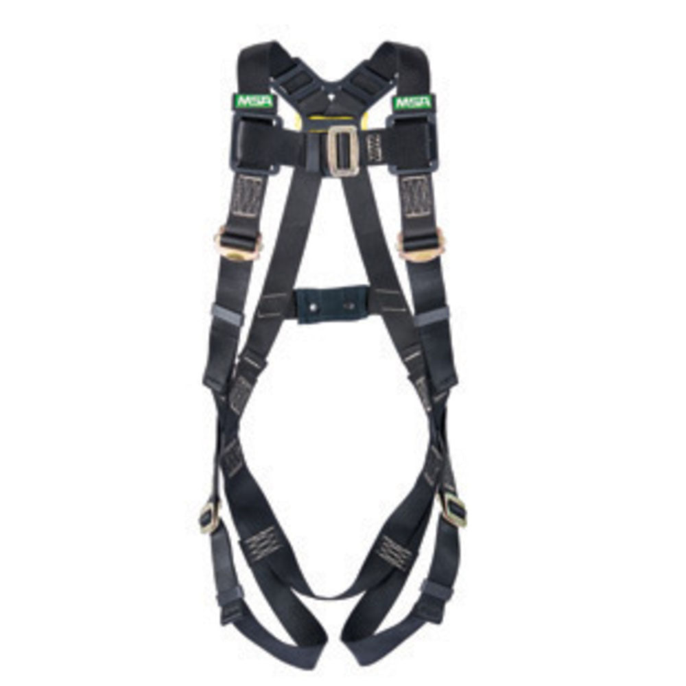 MSA X-Small Workman Arc Flash Vest Style Harness With Back Web Loop And Tongue Buckle Leg Straps