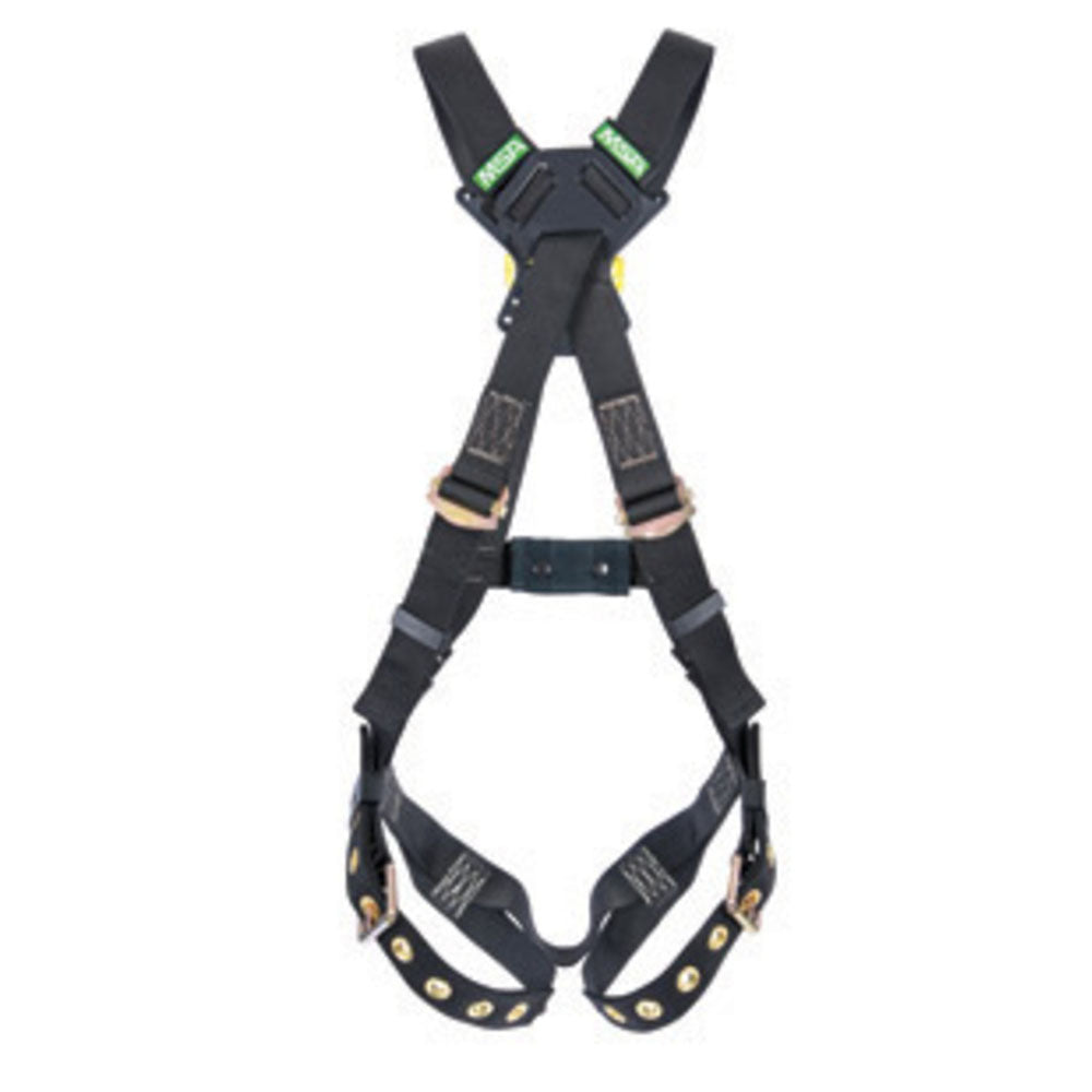 MSA Standard Workman Arc Flash Cross Over Harness With Back Web Loop And Qwik-Fit Leg Straps