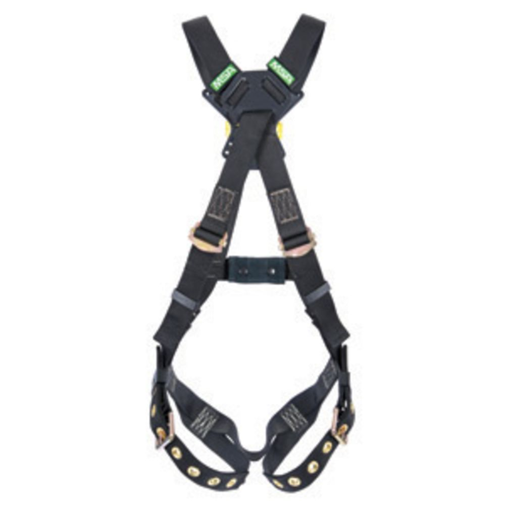 MSA X-Small Workman Arc Flash Cross Over Harness With Back Web Loop And Tongue Buckle Leg Straps