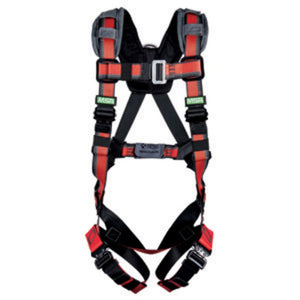 MSA EVOTECH Lite Universal Full Body Harness With Quick Connect Leg Straps and Back D Ring