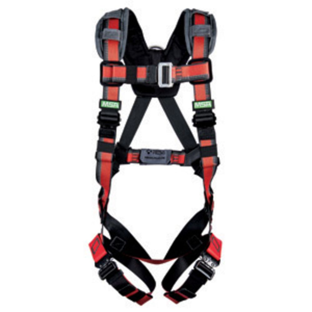 MSA EVOTECH Lite X-Large Full Body Harness With Quick Connect Leg Straps And Back D Ring