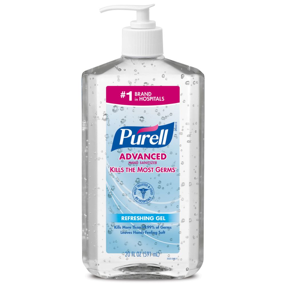 GOJO 20 Ounce Bottle Clear PURELL Fragrance-Free Hand Sanitizer