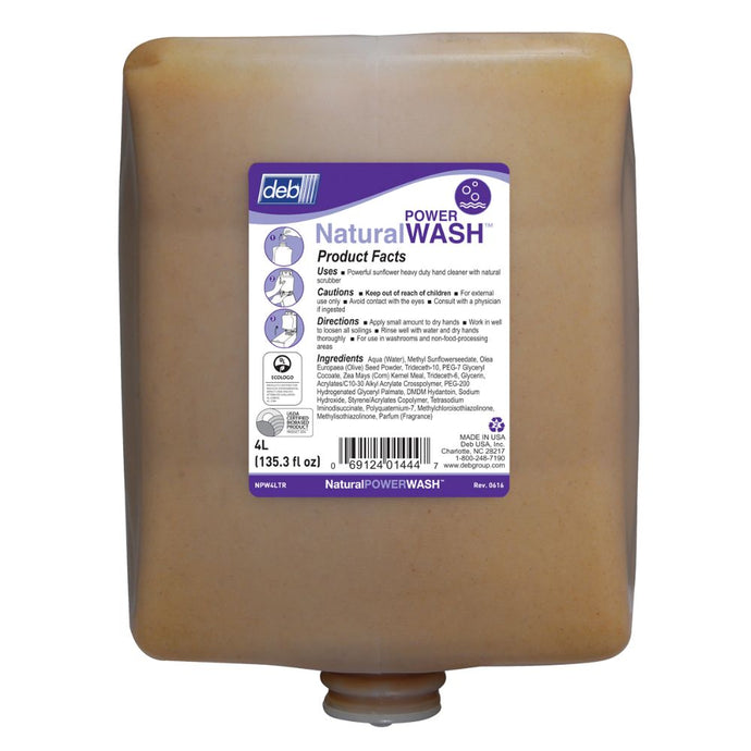 Deb 4 Liter Refill Tan Hand Cleaner (4 Hand Cleaners - Pack)