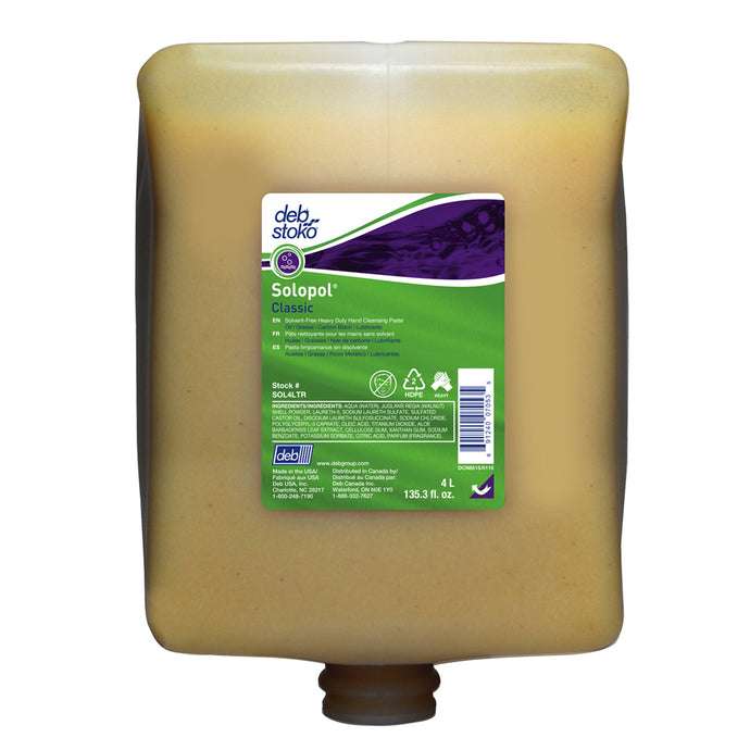 Deb 4 Liter Refill Beige Solopol Classic Scented Hand Cleaner