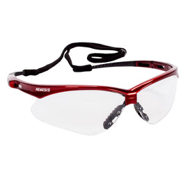 Kimberly-Clark Professional* Jackson Safety* Nemesis* Red Safety Glasses With Clear Anti-Fog Lens