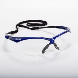Jackson Safety* Nemesis* Metallic Blue Safety Glasses With Clear Anti-Fog Lens