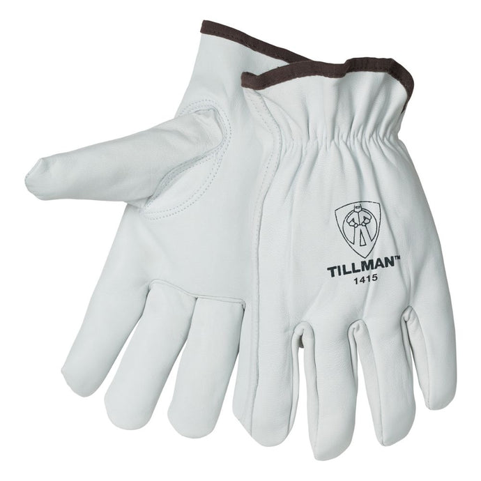 Tillman Pearl Premium Top Grain Goatskin Leather Unlined Drivers Gloves