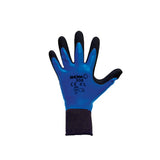 SHOWA 306 13 Gauge Black Natural Rubber Work Gloves With Cotton/Polyester Liner And Knit Wrist