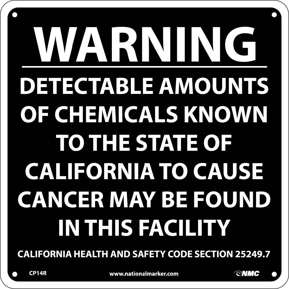 Warning Detectable Amounts Of Chemicals California  Proposition 68