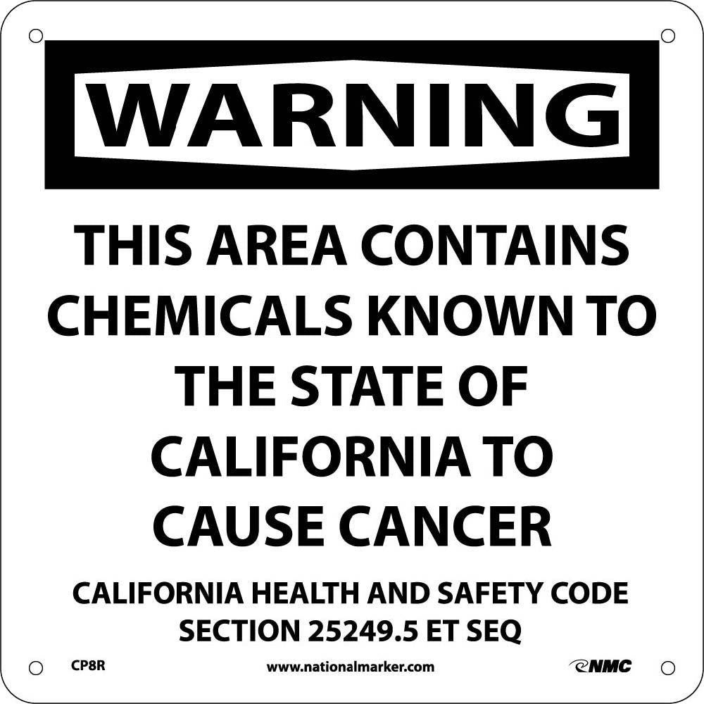 Warning This Area Contains Chemicals California  Proposition 76