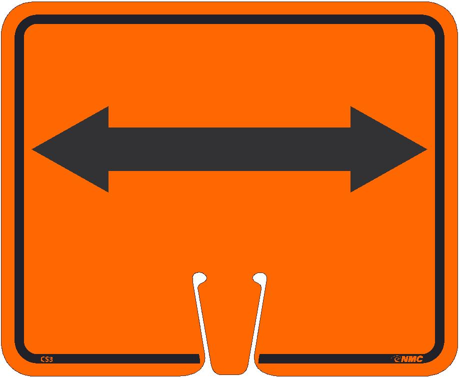 Safety Cone Double Arrow Sign