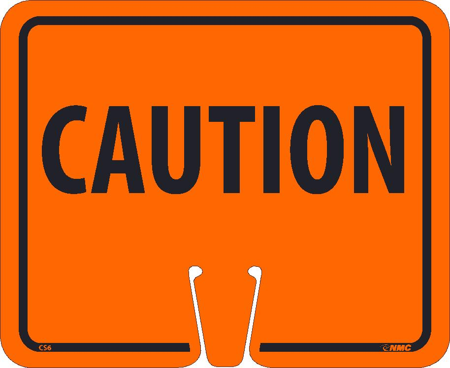 Safety Cone Caution Sign