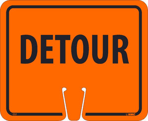 Safety Cone Detour Sign