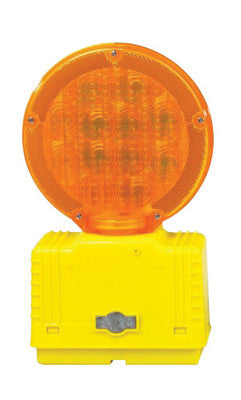 Cortina Safety Products Group Amber D-Cell Barricade Light With Photocell And 3-Way Switch
