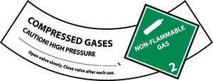 Compressed Air Cylinder Shoulder Label - Pack of 25