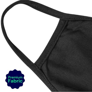 Reusable, Washable, & Cotton Face Mask - Black - Adult