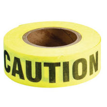 "Load image into Gallery viewer, Brady-2"" X 50 Yd Black/Yellow Cotton Biodegradable Barricade Tape ""CAUTION"".  Black/Red Cotton Biodegradable Barricade Tape ""DANGER""."