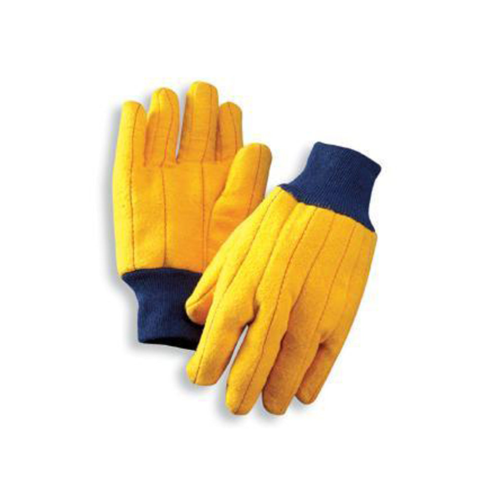 Cotton/Poly Blend Gold Chore Gloves