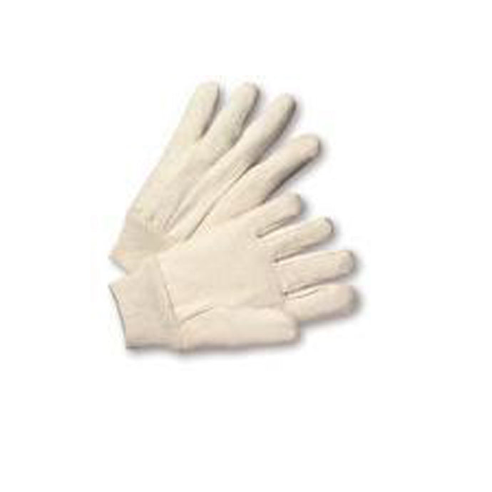 Cotton Canvas Gloves-Knitwrist