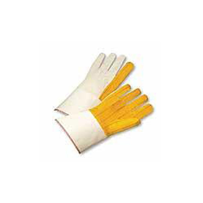Cotton Gold Chore Canvas Back Gloves