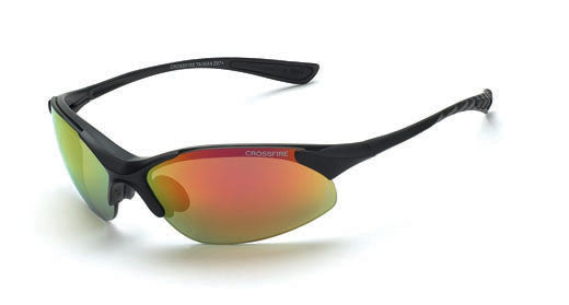 Cobra Red Mirror Lens Matte Black Frame