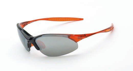 Cobra with a Silver Mirror Lens and a Shiny Black & Crystal Burnt Orange Frame