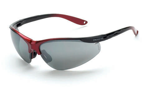 Brigade Silver Mirror Lens Shiny Black/Red Frame