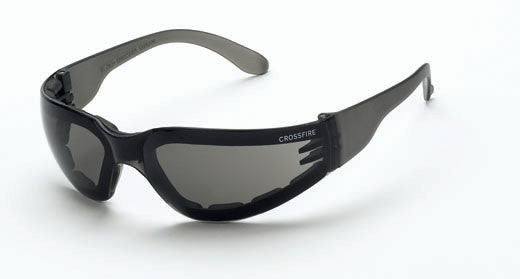 Shield Smoke Lens and Crystal Black Frame Foam Lined ANTI-FOG