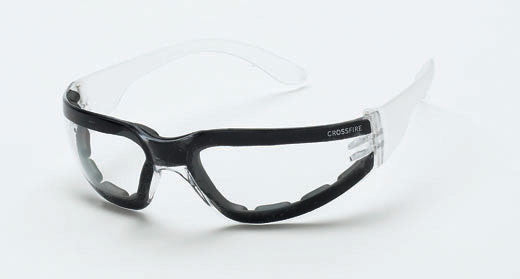 Shield Clear Lens and Crystal Clear Frame Foam Lined Anti-Fog