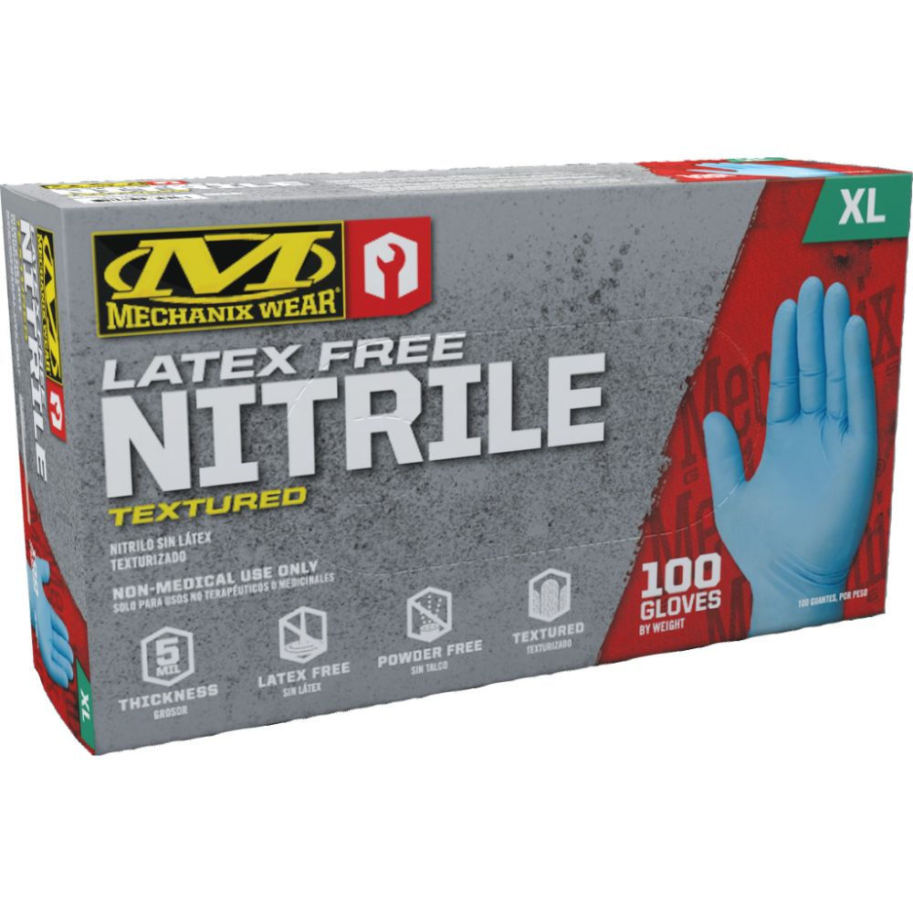 Mechanix Wear 5 Mil Blue Nitrile Gloves (100 Nitrile Gloves - Pack)