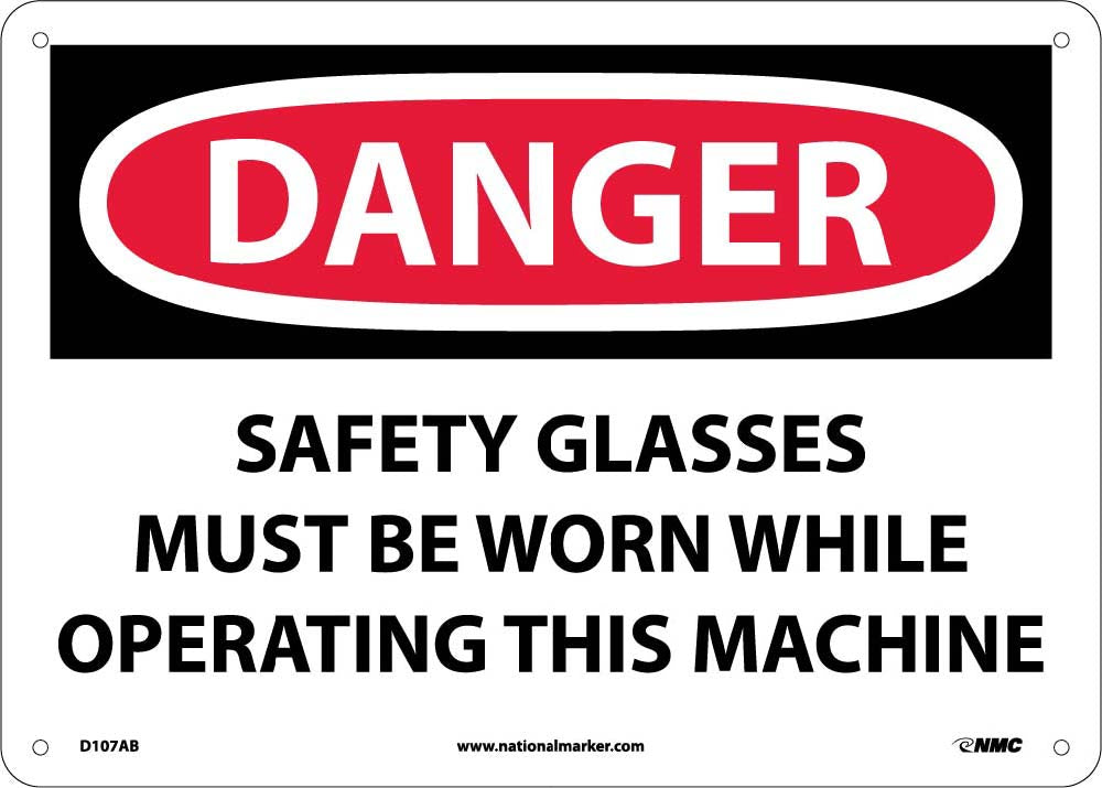 Danger Eye Protection Must Be Worn Sign