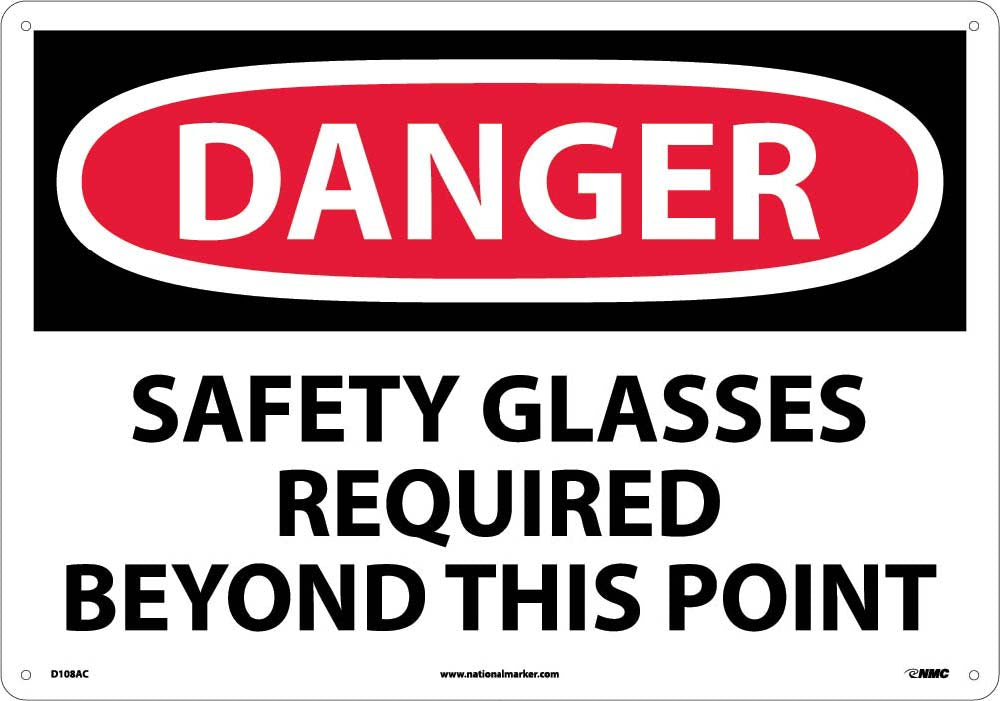 Danger Eye Protection Required Sign