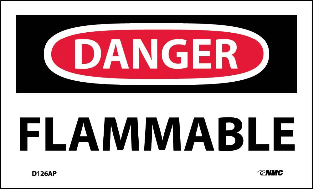 Danger Flammable Label - 5 Pack