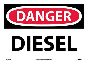 Danger Diesel Sign