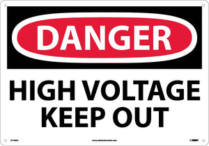 Large Format Danger High Voltage Keep Out Sign